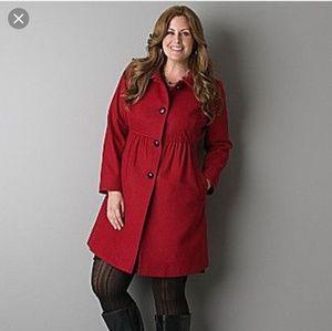 Lane Bryant tweed babydoll coat